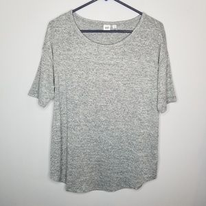 Gap gray knit short sleeve tee